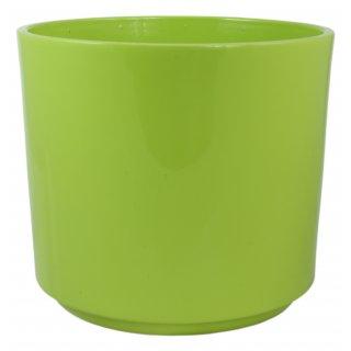 Osłonka ceramiczna Cylinder 14 cm zielona CERMAX