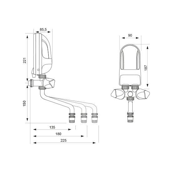 Ogrzewacz wody 3,7 kW z baterią metalową 22,5 cm DAFI