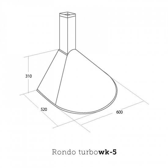 Okap kuchenny WK-4 Inox Rondo Turbo 60 cm satyna AKPO