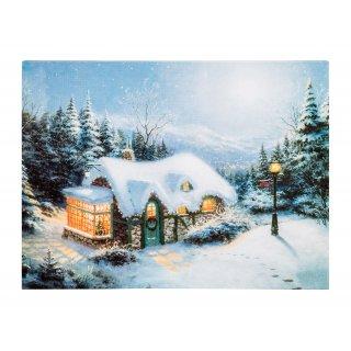 Obraz świąteczny z dekoracją świetlną LED 30x40 cm KAEMINGK
