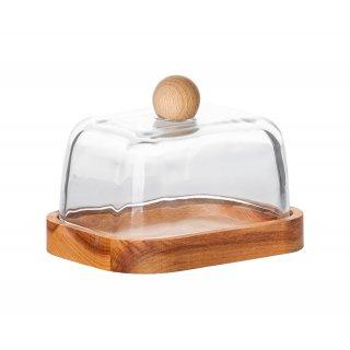 Maselnica drewniana ze szklaną pokrywą 13,5 cm ALTOM