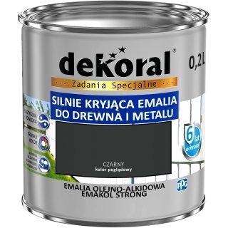 Emalia ftalowa EMAKOL STRONG czarny 0,2l DEKORAL