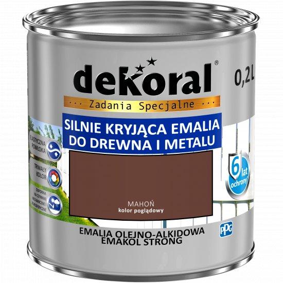 Emalia ftalowa EMAKOL STRONG mahoń 0,2l DEKORAL