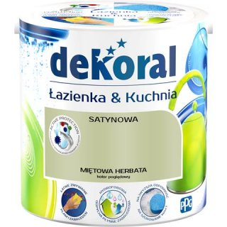 Farba do wnętrz miętowa herbata 2,5 L ŁAZIENKA&KUCHNIA