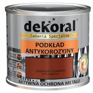 Farba antykorozyjna podkład czerwony tlenkowy 0,5l DEKORAL