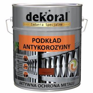 Farba antykorozyjna podkład czerwony tlenkowy 10l DEKORAL