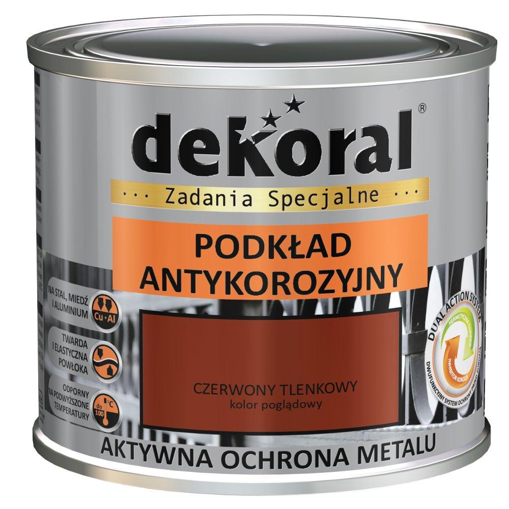 Farba Antykorozyjna Podkład Czarny 05l Dekoral