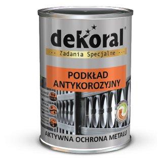 Farba antykorozyjna podkład jasny szary 0,9l DEKORAL