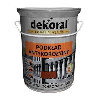 Farba antykorozyjna podkład jasny szary 5l DEKORAL