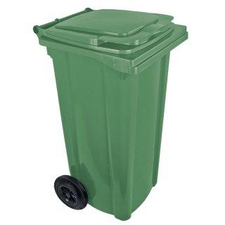 Kosz pojemnik na śmieci 120 L zielony na kołach
