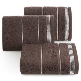 Ręcznik kąpielowy 140x70 brązowy bawełna EUROFIRANY