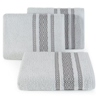 Ręcznik kąpielowy 140x70 srebrny bawełna EUROFIRANY