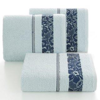 Ręcznik kąpielowy 140x70 niebieski bawełna EUROFIRANY