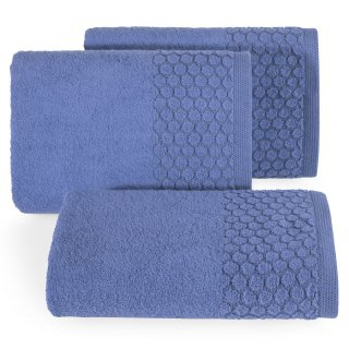 Ręcznik kąpielowy 140x70 granatowy bawełna EUROFIRANY