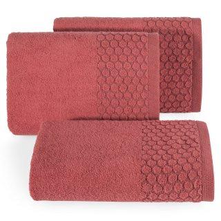 Ręcznik kąpielowy 140x70 czerwony bawełna EUROFIRANY