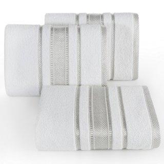 Ręcznik kąpielowy 140x70 biały bawełna EUROFIRANY