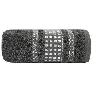 Ręcznik kąpielowy 140x70 grafitowy bawełna EUROFIRANY