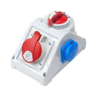 Rozdzielnica elektryczna z wyłącznikiem 0-1, 3P+N+Z 16A, 2P+Z 230V ELEKTRO-PLAST