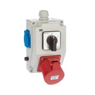 Rozdzielnica elektryczna z wyłącznikiem 0-1, 3P+N+Z 32A, 2P+Z 230V ELEKTRO-PLAST