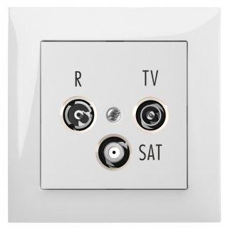 Gniazdo podtynkowe R-Tv-Sat Końcowe B/R SENTIA