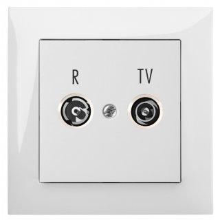 Gniazdo podtynkowe R-Tv Końcowe B/R SENTIA