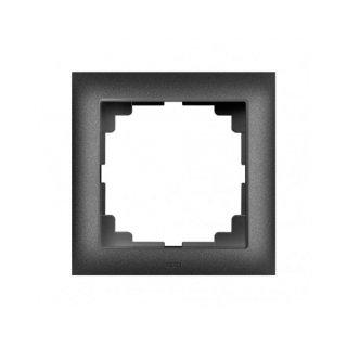 Ramka pojedyncza  czarny metalik SENTIA