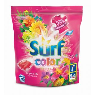 Kapsułki do prania 45 sztuk Color SURF