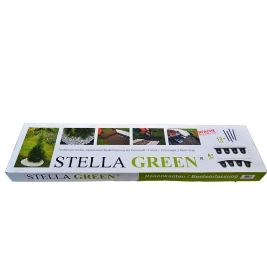 Obrzeża ogrodowe Stella Green 4x80 cm SCALA PLASTIC