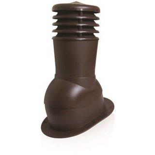 Kominek wentylacyjny regulowany do pokryć płaskich brązowy SCALA PLASTIC