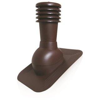 Kominek wentylacyjny nieocieplany regulowany brąz SCALA PLASTIC