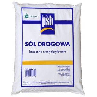 Sól drogowa z antyzbrylaczem 25 kg