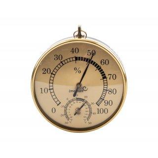 Termometr higrometr wiszący złoty BROWIN