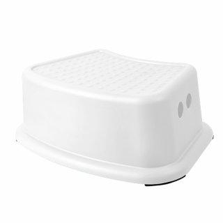 Antypoślizgowy stopień łazienkowy biały