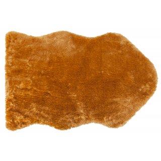 Dywan sztuczna skóra 55x85 cm beż