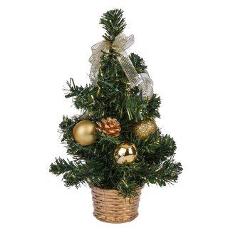 Sztuczne drzewko choinkowe 25 cm zielono-złote KAEMINGK