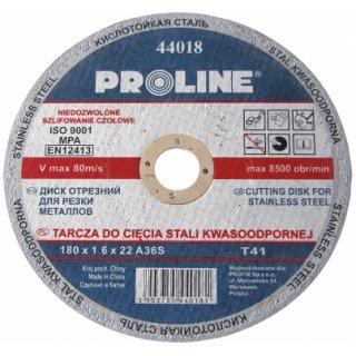 Tarcza do cięcia stali kwasoodpornej 125x1.0x22 PROFIX