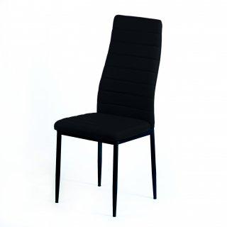 Krzesło tapicerowane Obiko czarne TS INTERIOR