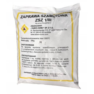 Zaprawa szamotowa ZSZ 1/III 25 kg TABEX-OZMO