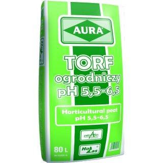 Torf ogrodniczy pH 5,5-6,5 80l Aura HOLLAS