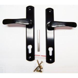 Klamka do drzwi na wkładkę czarny LOB