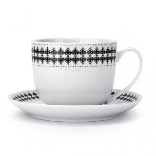 Filiżanka do kawy i herbaty porcelanowa ze spodkiem