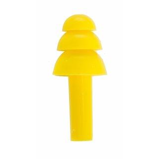 Zatyczki silikonowe do uszu 5 par żółte LAHTI PRO