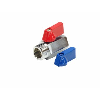 Zawór kulowy mini 1/2x1/2 gwint wewnetrzno-zewnetrzny TYCNER