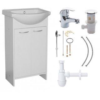 Zestaw łazienkowy Praxis szafka z umywalką+bateria+syfon DEFTRANS