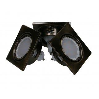 Zestaw 3 oczek okrągłych rychomych LED złoto antyczne