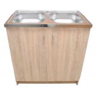 Szafka kuchenna dąb sonoma zlewozmywak z otworem