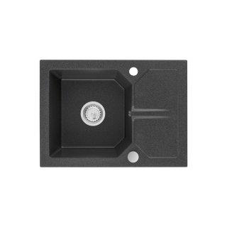 Zlewozmywak kuchenny granitowy 60X44X17,5 grafitowy MILO