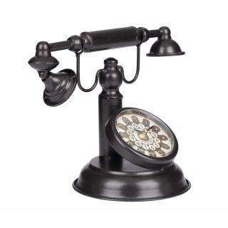 Zegar metalowy Telefon Czarny