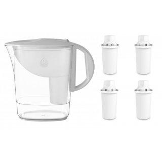 Zestaw dzbanek filtrujący Atri bialy + 4 wkłady DAFI