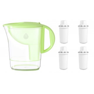 Zestaw dzbanek filtrujący zielony+4 wkłady Classic DAFI